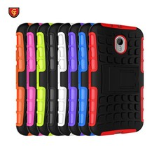 New arrival 2 in 1 tpu pc double Cell phone Rugged hybrid hard back cover armor kickstand case for Motorola G3 / g 3rd