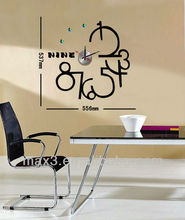 Max3 Fashion Kitchen Decal Clock For Contemporary Wall Clock