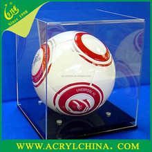 transparent 3mm perspex football box, clear acrylic soccer display box with 250*250*250mm