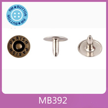 nipple down rivet with brass nail for jeans