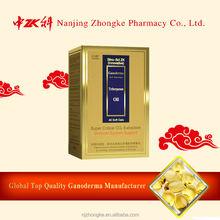 Chinese organic natural growing reishi mushrooms spore oil capsule