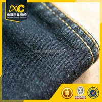 stretch Basic blue polyester denim fabric for jeans