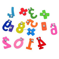 15 PCS/Set Wooden Digital Fridge Magnets Children's Early Learning Educational Maths Toy, 6CM*4cm