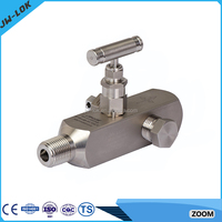 Instrumentation valve liquid filled pressure gauge