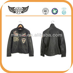 High Quality Men's Genuine Leather Jacket Motorcycle
