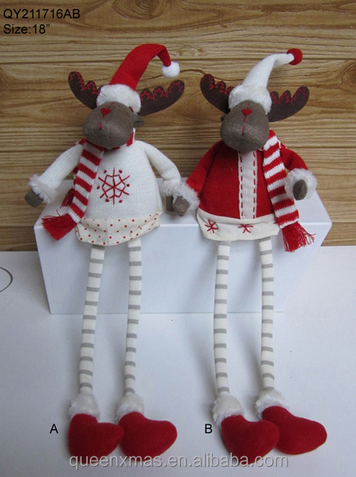 Christmas moose with scarf