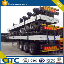 CITC famous brand ,skeleton or flatbed 40FT container semi trailer chassis for sale