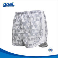 Fashion design sublimation printing dry fit men professional running shorts