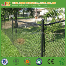 6 feet high mesh size 60x60mm PVC coated chain link fence for sport field