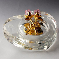 Optical Clear Heart Crystal Music Box For Wedding Doors Gifts