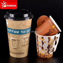 Wholesale 7oz coffee paper cup with handle