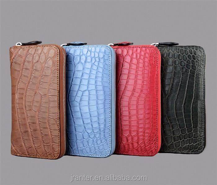 Wholesale elegant felt ladies clutch bag genuine crocodile leather clutch bag women_6