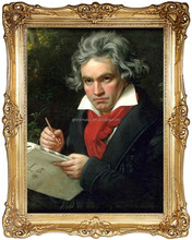 Portrait of Beethoven, Painting, Oil Handmade Painting