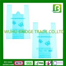 Bridge PBAT cornstarch fully biodegradable plastic shopping bag