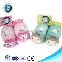 Wholesale fashion new born baby shoe winter warm cute plush soft animal baby shoe pattern