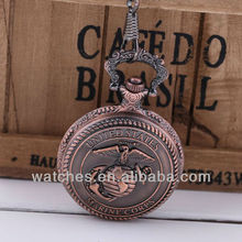 Us marine corps laiton montre de poche steampunk bijoux