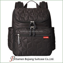 Hot sell cool black fashion adult backpack diaper bag
