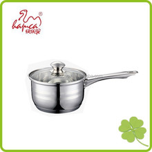 Glass lid for saucepan, stainless steel 201 body