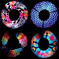 Hanfeng New design LED lights colorful digital light show stick LED nunchakus