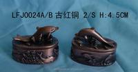 Animal shape table decor custom pewter antique jewelry box