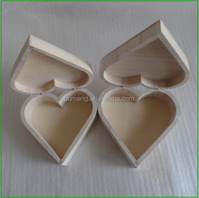Heart Shape Wooden Treasure Chest with Magnetic Lid,Decoupage