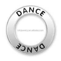online shopping cheap trendy bulk bow shoe custom made metal logo dance message ring charms