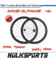 Toray T700 full carbon road bike wheels 700C carbon road bicycle wheelset carbon bike wheels 700c 50mm Tubular
