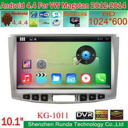 2015 new hot 10.1 inch big screen car DVD for VW Magotan 2012-2014 Android 4.4.4 system built-in wifi gps bluetooth