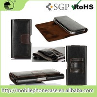"New Design Universal Mobile Phone 5"" Inch Leather Case for Samsung S4"
