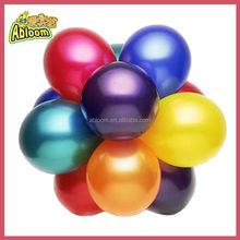 Party Decoration 12 inch 3.2g Metallic multicolor Latex Balloon
