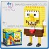 Mini Qute WISE HAWK SpongeBob SquarePants diamond nano plastic cube building blocks cartoon model educational toy NO.2233
