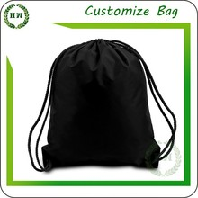 Hongway new black cotton drawstring bag, promotional low price colorful bag