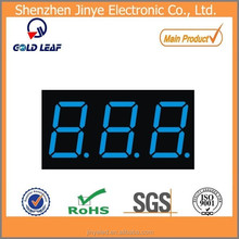 3 digit 0.36''/0.36 inch 7 segment display with emitting blue color