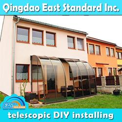 East Standard polycarbonate outdoor glass patio rooms
