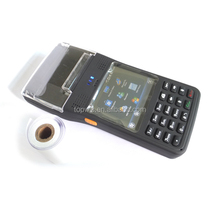 Bluetooth Wi-Fi GPS handheld barcode scanner PDA with built-in thermal printer