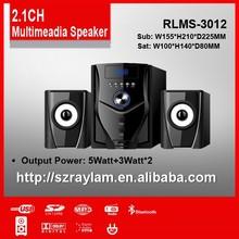 usb 2.1CH speaker live speaker system with usb RLMS-3012 L