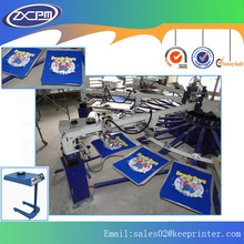 Full automatic 8 color 12 station t-shirt screen printing machine