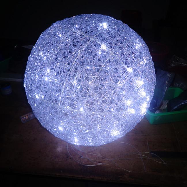 D coratif acrylique lumi re led 3d motif grande boules de for Boule lumineuse noel exterieur