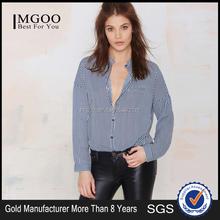 MGOO High Quality Women Navy Sailer Fashion Blouses Long Sleeves Cotton Shirt For Women 15116A874