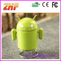mini android robot speaker ,cute portable speaker ,usb amplifier speaker with FM Radio and TF Memory Card Slot