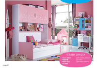 High quality 2015 Modern Fashionable bed with study table for boy and girl
