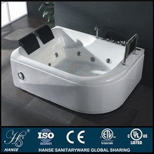 HS-B295 with colorful led air jet 2 person sitting 2012 massage bathtubs ce