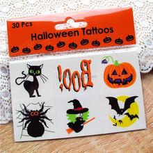 Halloween cartoon tattoo stickers Children in water transfer printing one-time tattoo stickers