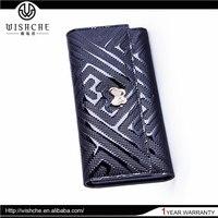Wishche Newest Model Luxury Design Fashion Hand Bag for Lady Custom Handmade Luxury Bow-knot Women Zipped Leather Wallet W117