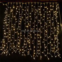 230V/110V/24V 3m drop 2m width 600leds black PVC yellow fairy light curtain backdrop
