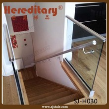 Interior Frameless Tempered Glass Railing for Staircase / porch / deck / balcony