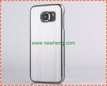For Samsung Galaxy S6 Brushed Chrome Aluminum Metal Back Hard Case