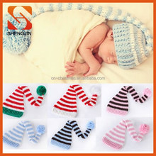 New design 1pc Cotton Girl Boy Unisex Xmas Tail Infant Baby Hat Cap Beanie knit