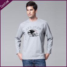 washed wholesale silk/cotton men long sleveet-shirt for printing