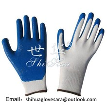cotton coated nitrile working gloves